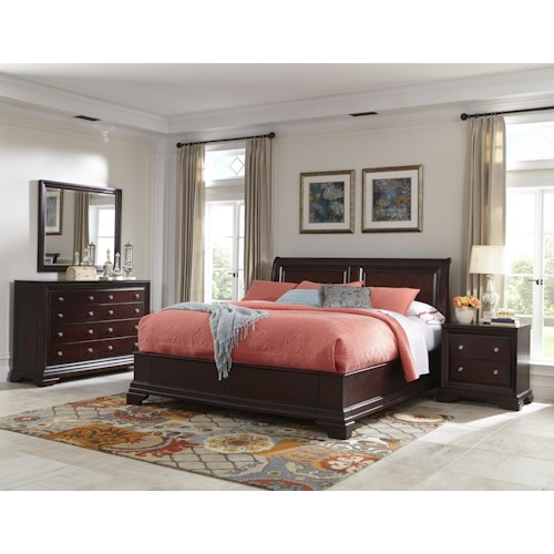 Cresent Fine Furniture Newport California King Bedroom Group