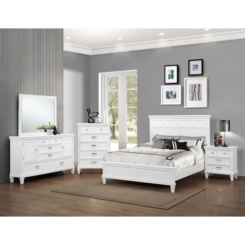 Crown Mark Hannah Queen Bedroom Group