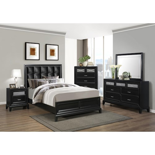 Crown Mark Elise King Bedroom Group