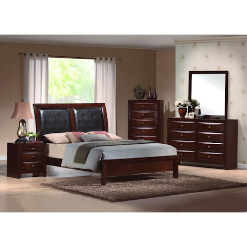 Crown Mark Emily California King Bedroom Group