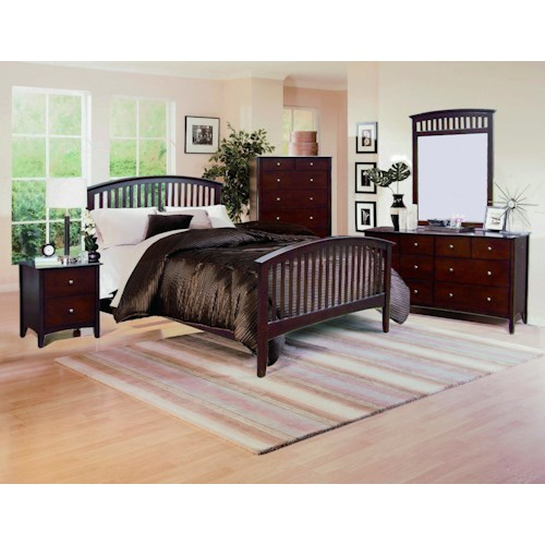 Crown Mark Lawson  Full Bedroom Group
