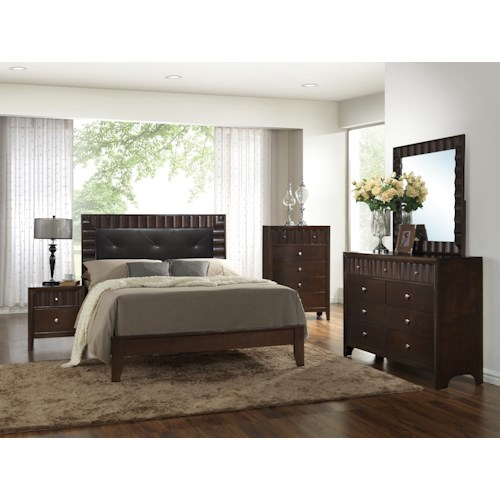 Crown Mark Nadine King Bedroom Group