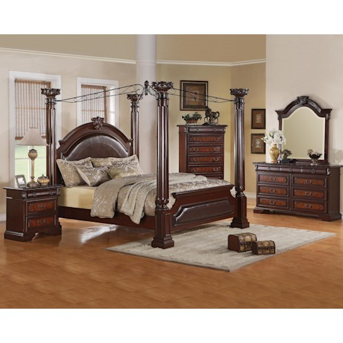 Crown Mark Neo Renaissance Cal King Bedroom Group