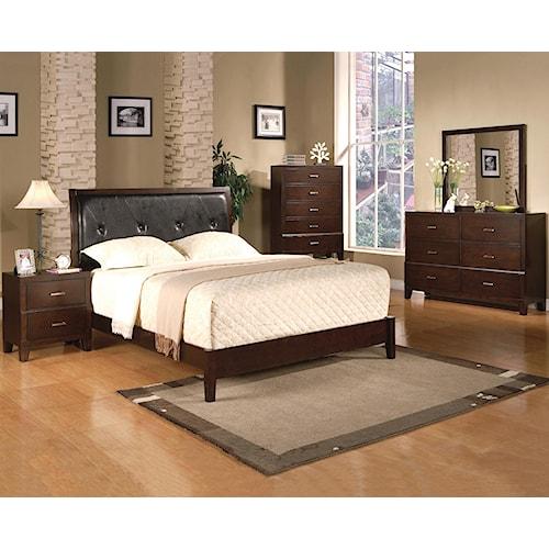 Crown Mark Serena Cal King Bedroom Group