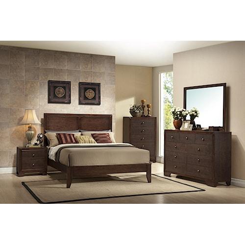 Crown Mark Silvia Queen Bedroom Group