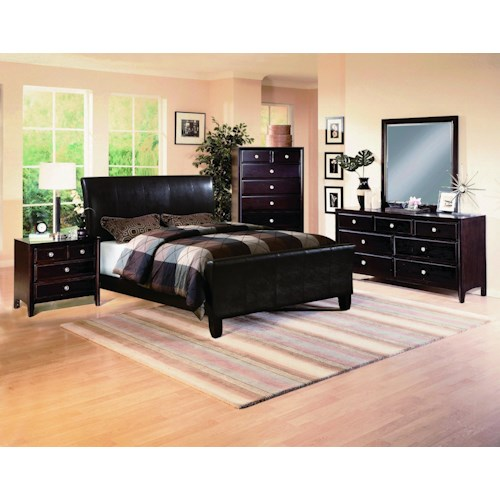 Crown Mark Tomas Queen Bedroom Group