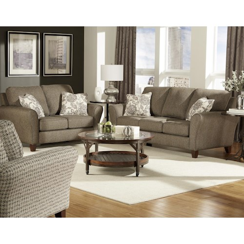 England Paxton Stationary Living Room Group