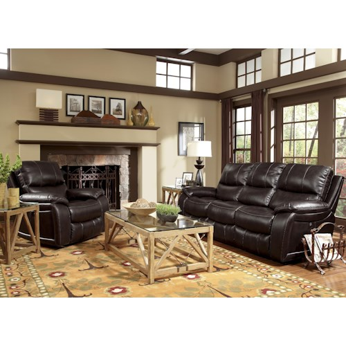 Flexsteel Latitudes - Woodstock Reclining Living Room Group