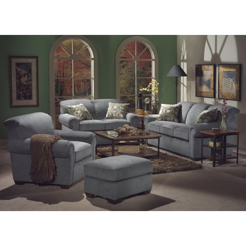 Flexsteel Main Street Stationary Living Room Group with Sleeper