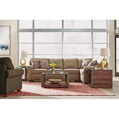 Flexsteel Thornton  Stationary Living Room Group