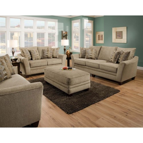 Franklin 811 Ashland Stationary Living Room Group