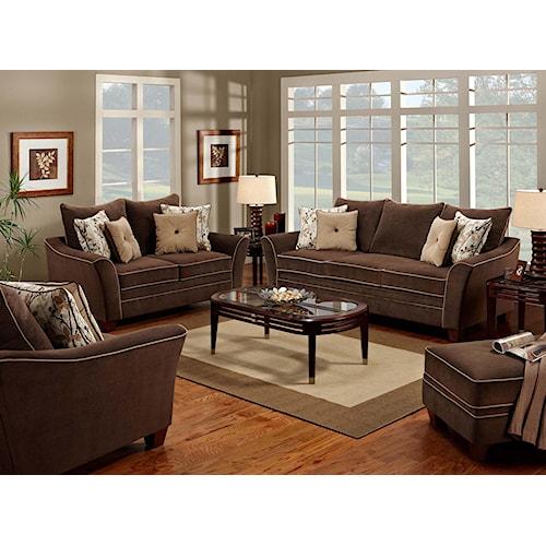 Franklin 811 Bridgeport Stationary Living Room Group