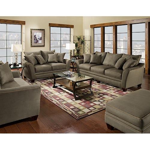 Franklin 811 Endura Stationary Living Room Group