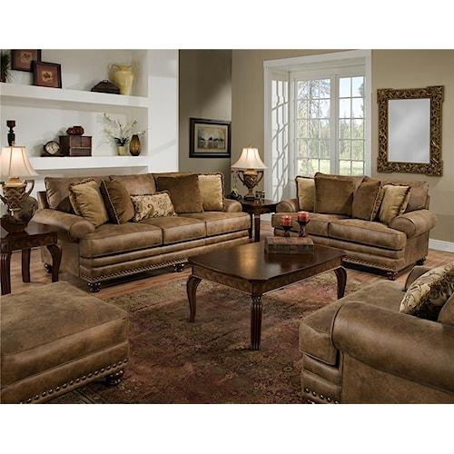 Franklin 817 Stationary Living Room Group