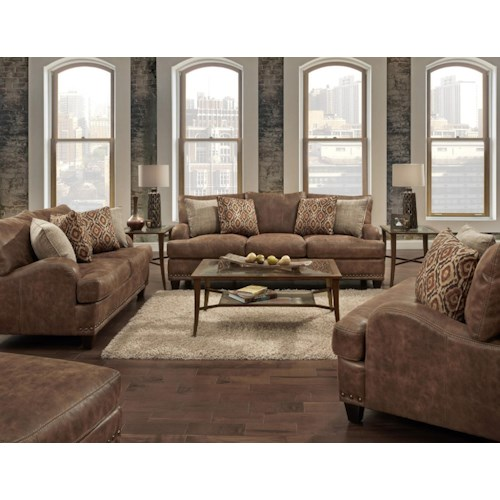 Franklin 848 Stationary Living Room Group