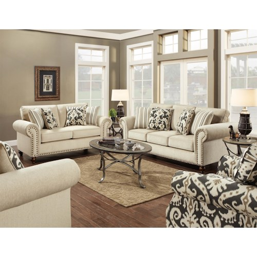 Fusion Furniture 3110 Stationary Living Room Group