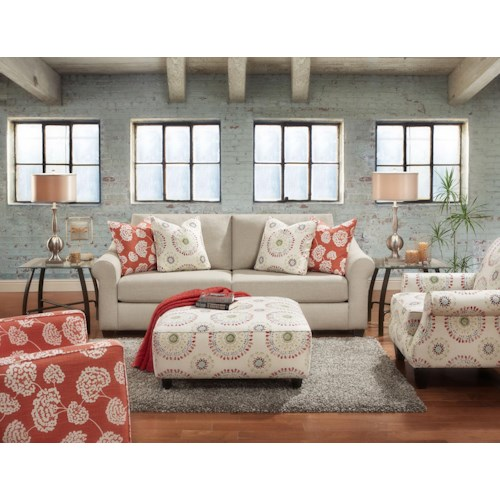 Fusion Furniture 3800 Stationary Living Room Group