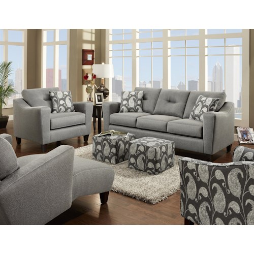 Fusion Furniture 8100 Stationary Living Room Group