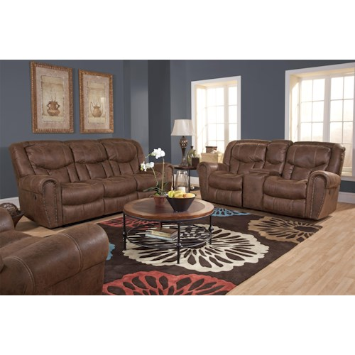 HomeStretch 123 Collection Reclining Living Room Group