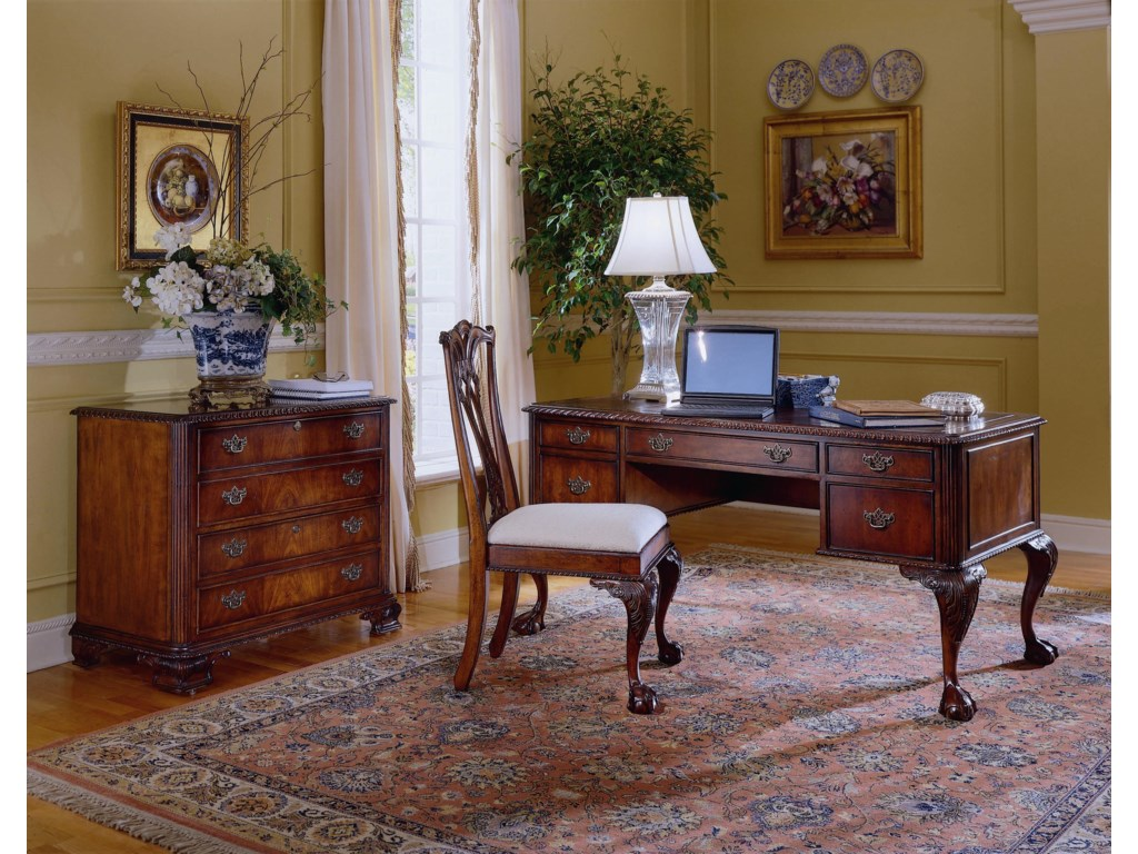 Lateral File,  Ball/Claw Desk, and Ball/Claw Desk Chair Shown