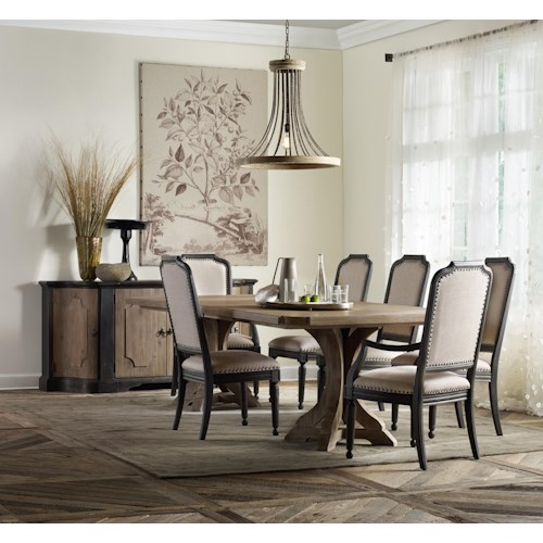 Hamilton Home Corsica Formal Dining Room Group with Credenza