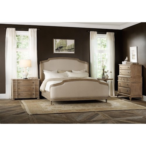 Hooker Furniture Corsica Queen Shelter Bedroom Group