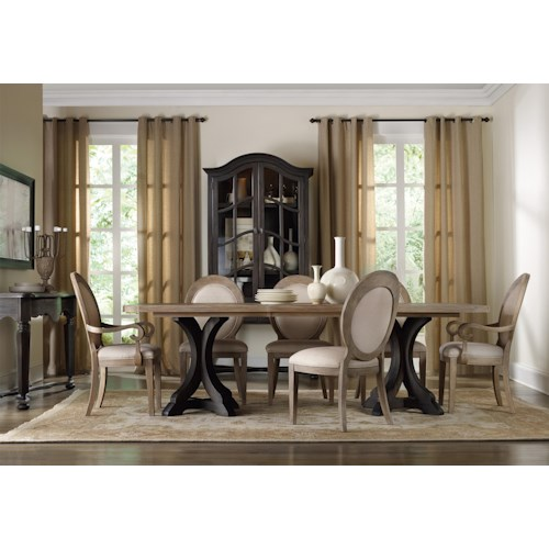 Hamilton Home Corsica Formal Dining Room Group with Oval Back Chairs
