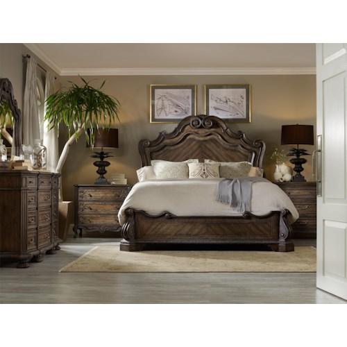 Hooker Furniture Rhapsody California King Bedroom Group