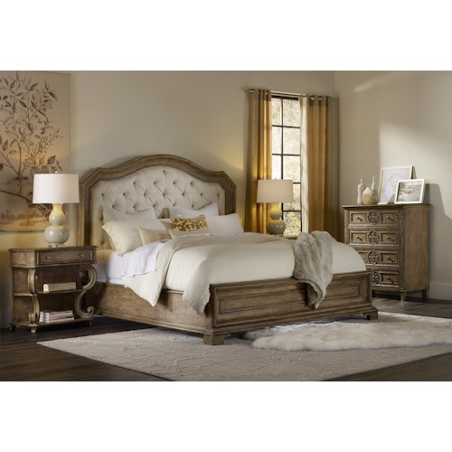 Hooker Furniture Solana Queen Bedroom Group 4