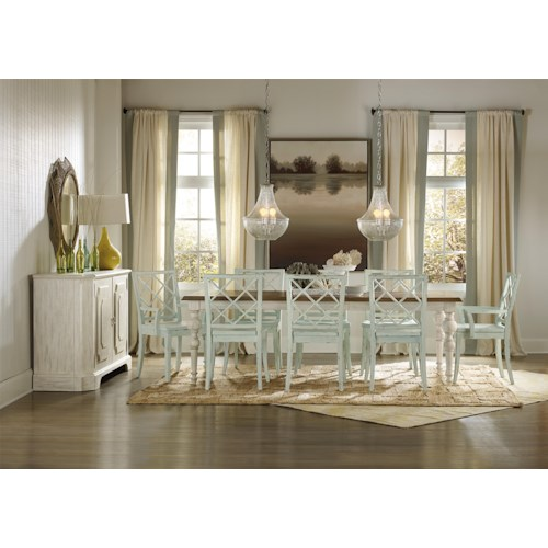 Hooker Furniture Sunset Point Formal Dining Room Group