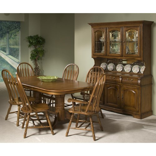 Intercon Classic Oak Formal Dining Room Group