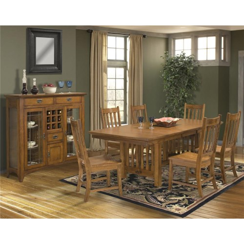 Intercon Mission Leopold Casual Dining Room Group
