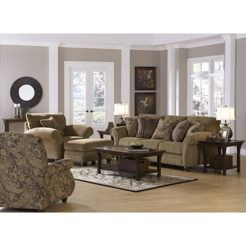 Jackson Furniture Suffolk  Stationary Living Room Group