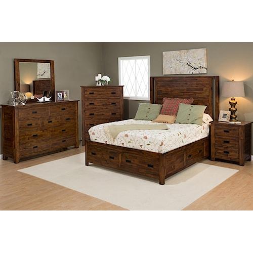 Jofran Coltran 5PC Queen Storage Bedroom Set