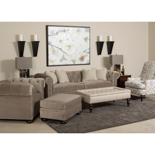 Kincaid Furniture Camden  Stationary Living Room Group