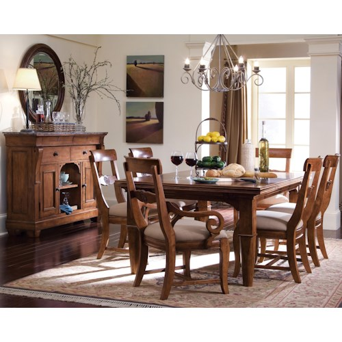 Kincaid Furniture Tuscano Formal Dining Room Group