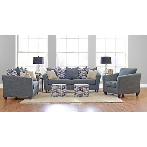 Klaussner Culpepper Stationary Living Room Group