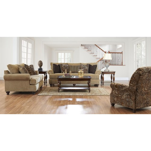 Elliston Place Greenvale Stationary Living Room Group