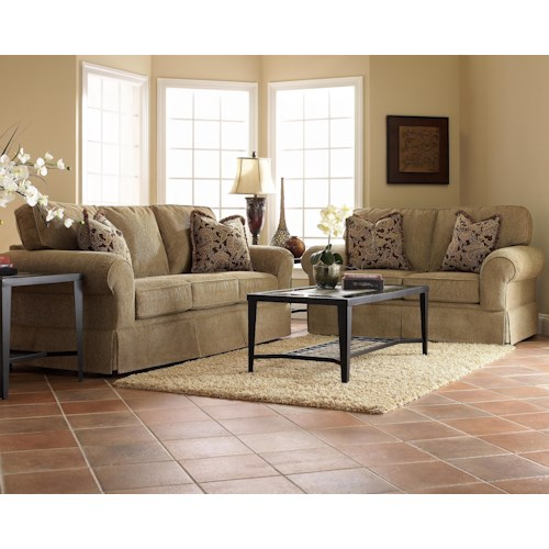 Elliston Place Woodwin Stationary Living Room Group