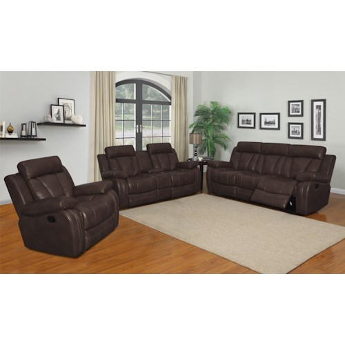 Klaussner International  Atticus-US Reclining Living Room Group