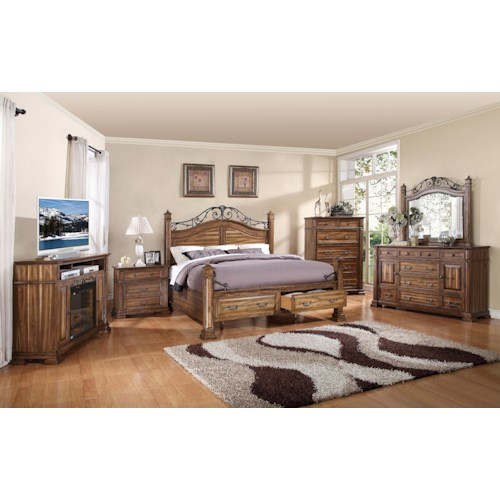 Legends Furniture Barclay King Bedroom Group