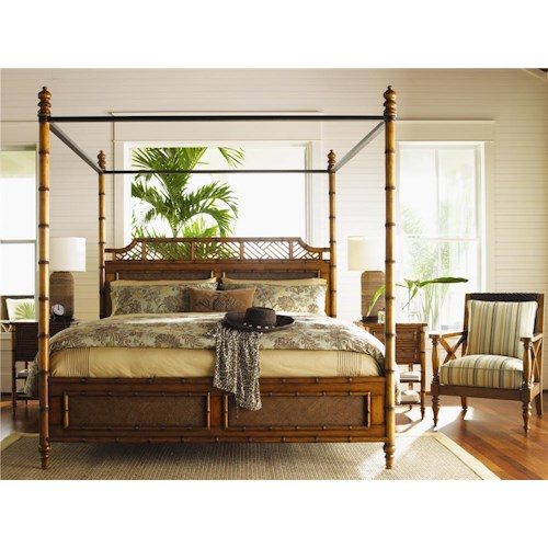 Tommy Bahama Home Island Estate Queen Bedroom Group
