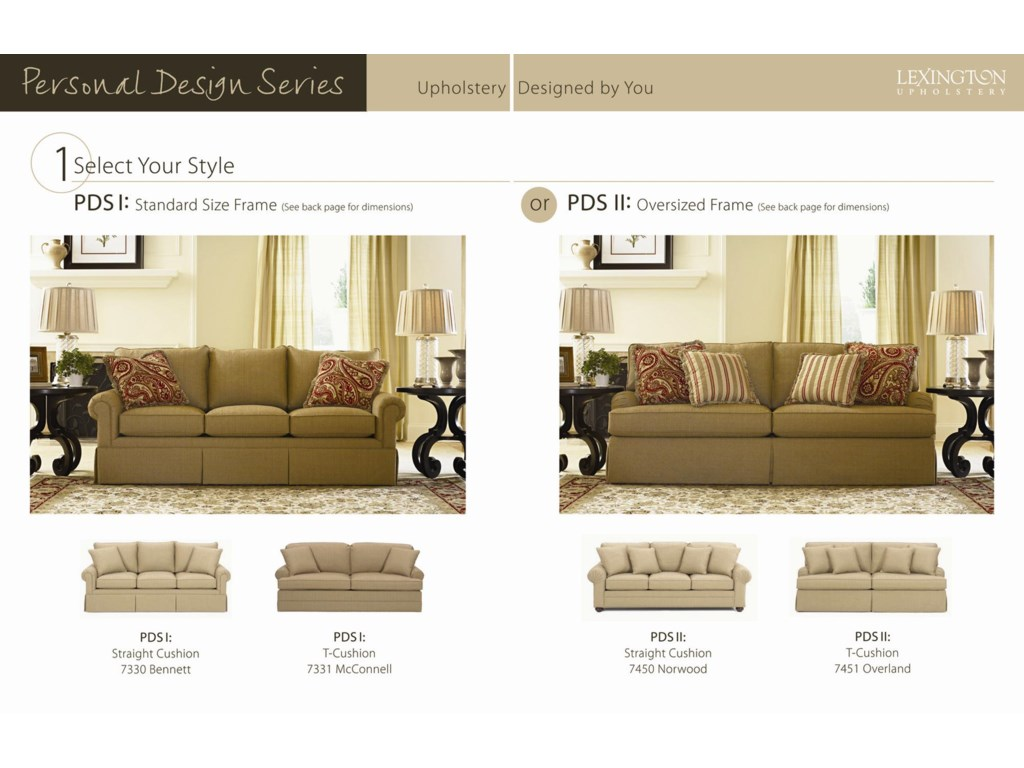 Choose Your Preferred Frame Size (Standard or Oversized) and Cushion Style (Straight or
