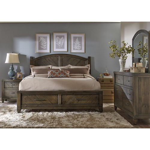 Liberty Furniture Modern Country Queen Bedroom Group