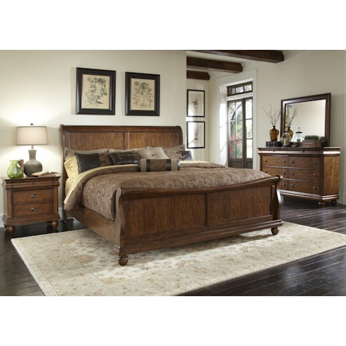 Liberty Furniture Rustic Traditions King Bedroom Group 2