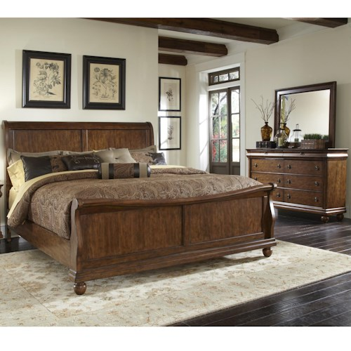 Liberty Furniture Rustic Traditions King Bedroom Group 1