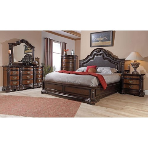 Lifestyle 4258A King Bedroom Group