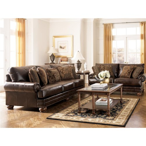 Signature Design by Ashley Chaling DuraBlend® - Antique Stationary Living Room Group