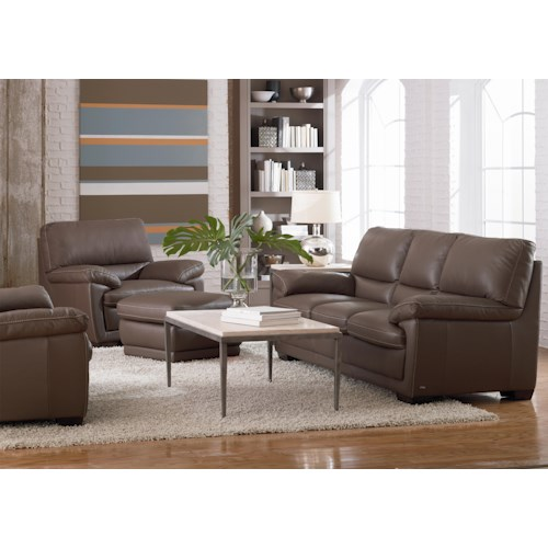 Natuzzi Editions B674 Stationary Living Room Group