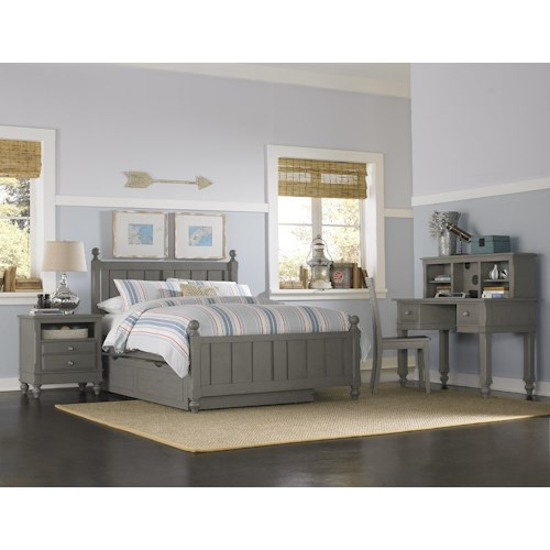 NE Kids Lake House Twin Kennedy Trundle Bed Group 3